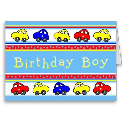 Cars and Stars Birthday Boy Birthday Card