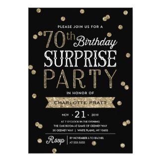 Free 70th Birthday Invitation Designs