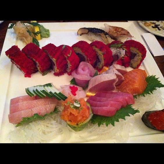 Sashimi and sushi at Japonica in NYC. The fish at this restaurant is always excellent. I appreciate their extensive menu with offerings like yosenabe as well.