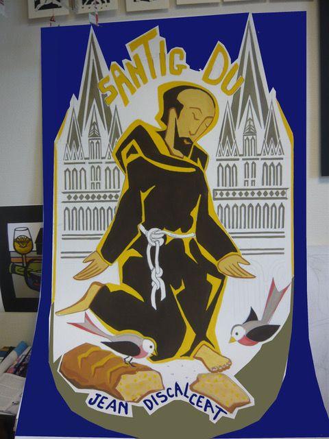bannière de Santig du, dessinée à Concarneau. Elle sera brodée par ...