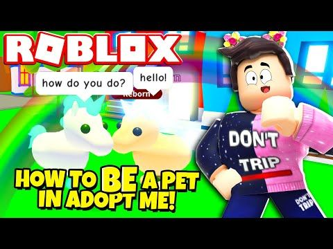 Works How To Be A Pet In Adopt Me Roblox Youtube In 2020