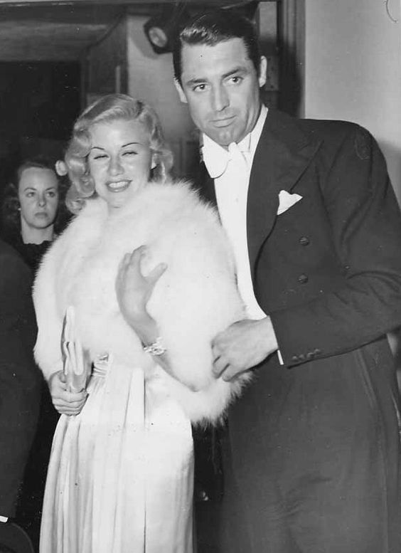 Where did you get that face? Hollywood? â Cary Grant and Ginger Rogers on a date, 1937.