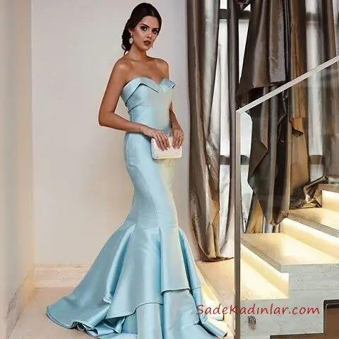 2020 Saten Elbise Modelleri Ile Gece Sikliginiza Tarz Katin 2020 The Dress Aksamustu Giysileri Elbise Modelleri