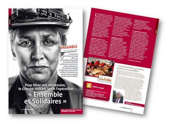 """Campagne de communication pour l'opération """"Ensemble et Solidaires"""" du groupe Holcim en France."""