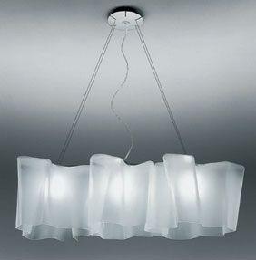 "chandelier over breakfast room or dining room table - Artemide Logico Suspension Triple Linear - Standard: 39.4""L x 12.25""H X 78.75"""
