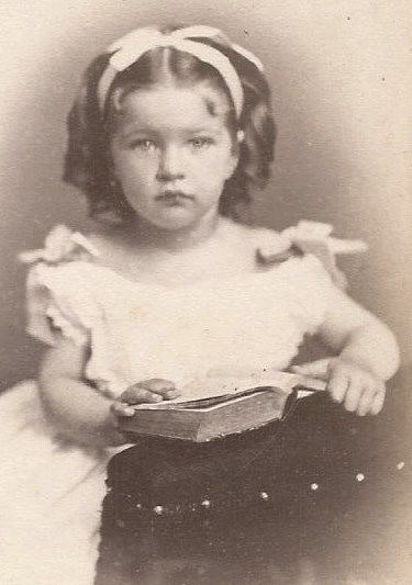 gorgeous little girl with hair ribbon by loeffler stanton