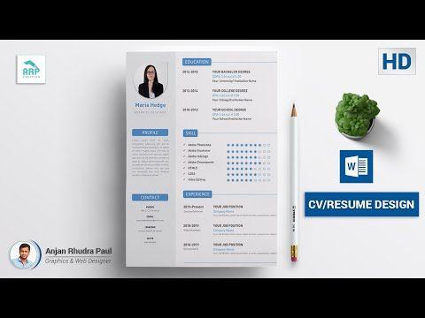 Pin On Cv Resume Design Tutorial