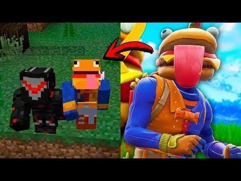 Nueva Skin Hamburguesa De Fortnite Juega Minecraft Junto A Omega