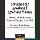 Common Core State Standards Speaking & Listening Rubrics Bundle Grades 9-12    These rubrics will be helpful for student assessment of the  Commo...