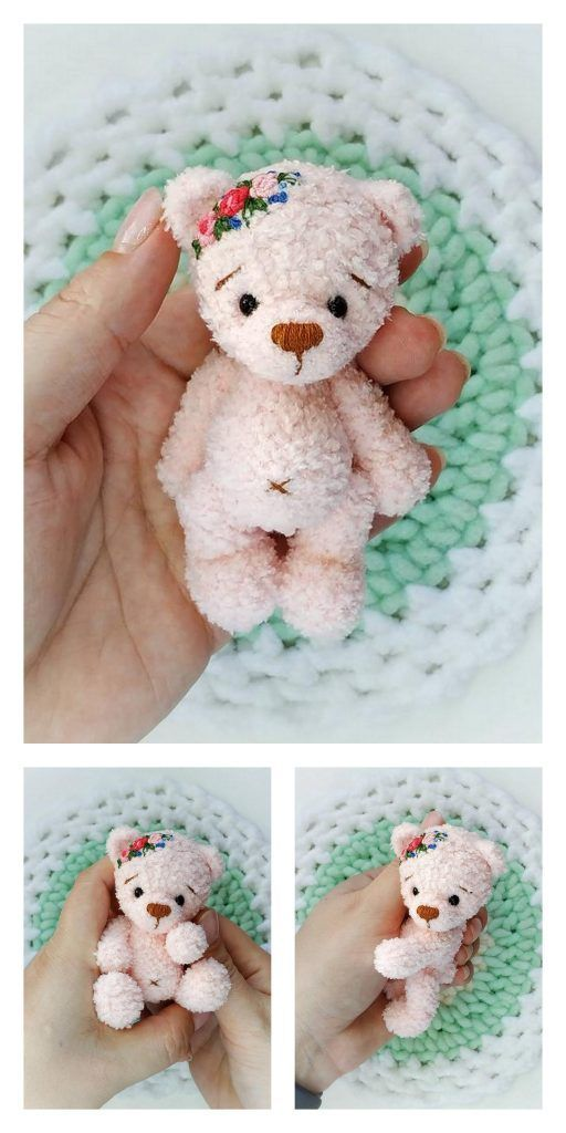 Amigurumi Doll Teddy Bear Security Blanket Crochet Pattern Knitted ... | 1024x512