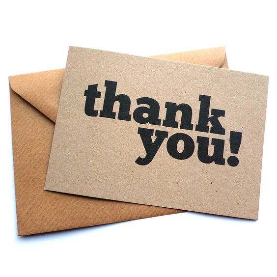 Set Of 12 Thank You Postcard Note Cards | On the high street, The ...