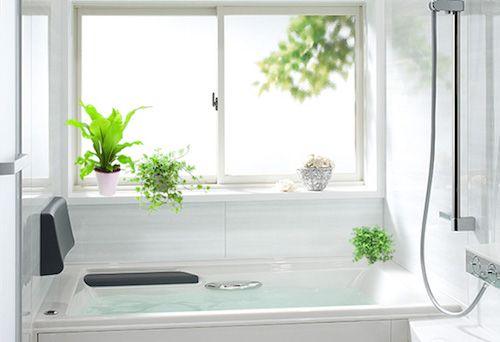 バスルームインテリア 劇的に変わる おしゃれテクニック集 バスルーム インテリア 浴室 グリーン 浴室 観葉植物