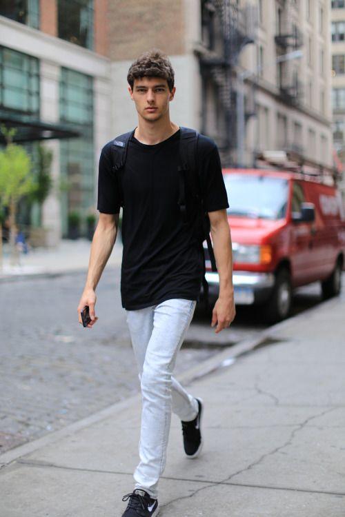 Male Model Street Style Cabideiro Dele Pinterest