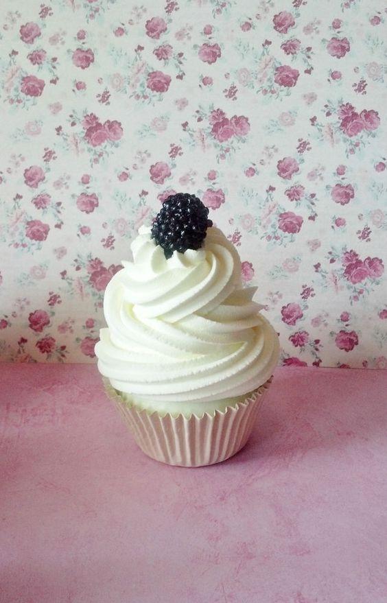 Vanilla Blackberry Fake Cupcake Photo Prop Home Decor House Staging #FakeCupcakeCreations