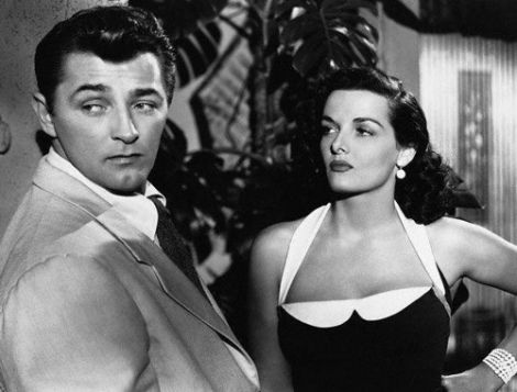 Lines and shadows, the Swiss Cheese Plant mimics the Venetian blinds or shutters normally used in brooding shots. Macao 1952 Robert Mitchum, Jane Russell