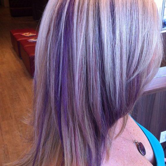 Purple highlights.