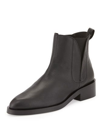 Paulette+Leather+Bootie,+Black+by+Andre+Assous+at+Neiman+Marcus.