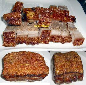 Karin S Recipe Babi Panggang Crispy Siao Bak Crispy Roasted Pork Belly Resep Babi Daging Babi Panggang Resep Masakan Cina
