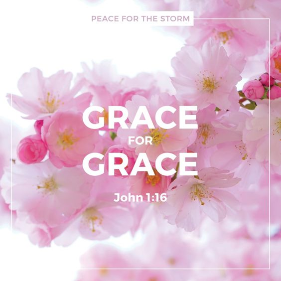 And of His fullness we have all received, and grace for grace. John 1:16 (NKJV)