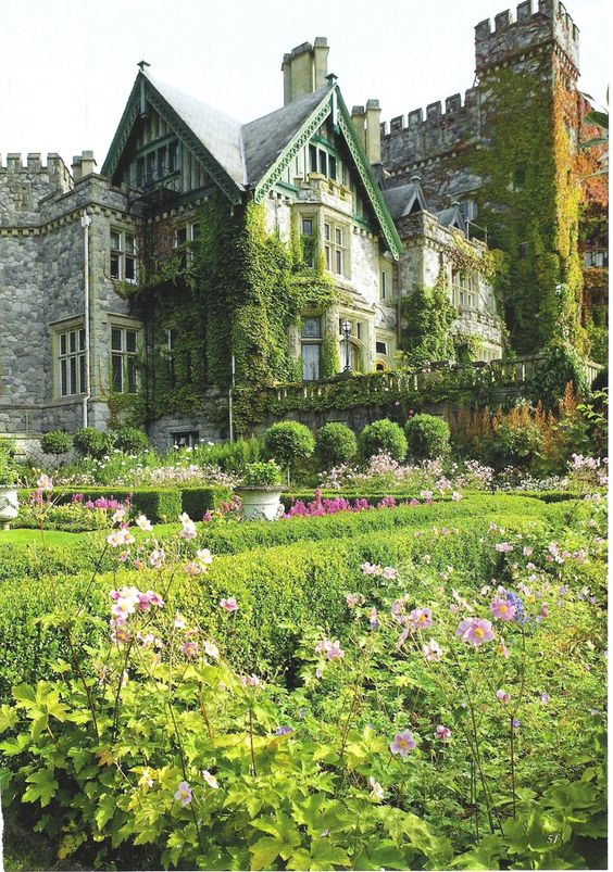 Dunsmuir Castle's Italian Garden, Victoria, British Columbia, Canada - apparently - this looks like Chirk Castle In Wales
