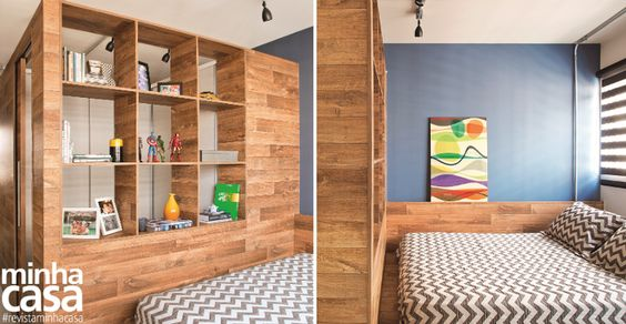 Para fazer a área render, os arquitetos responsáveis apostaram todas as fichas na marcenaria: o closet é o ponto alto da proposta