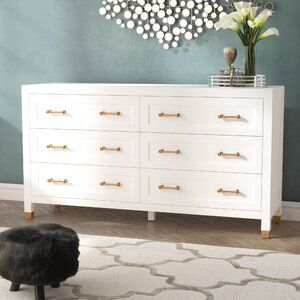Accent Modern Contemporary Accent Mirror White And Gold Dresser Dresser Double Dresser