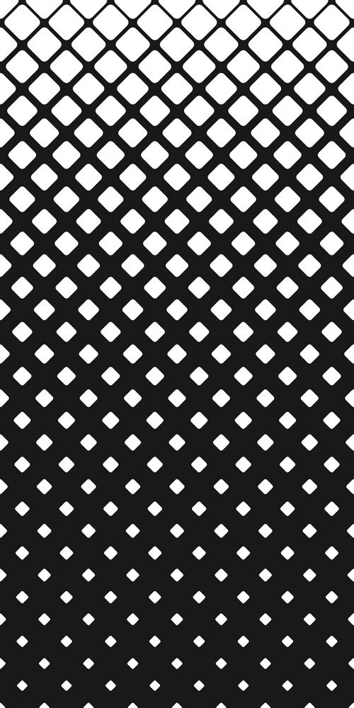 Geometric Abstract Black And White Rounded Square Pattern