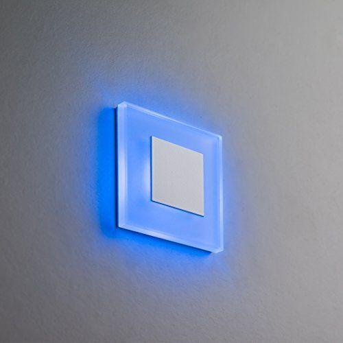Eclairage D Escalier Led Premium Sunled Small Bleu En Aluminium Blanc 230v 1w Verre Veritable Boite Escaliers Nive Eclairage Escalier Eclairage Mural Eclairage