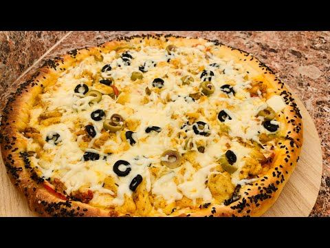 بيتزا فاهيتا الدجاج ولا اروع من هكي بيتزا بالدجاج مع أم لقمان عجينة البيتزا رمضانيات Youtube Food Vegetable Pizza Vegetables