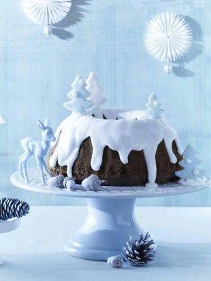 Kuchen winterlich verzieren.
