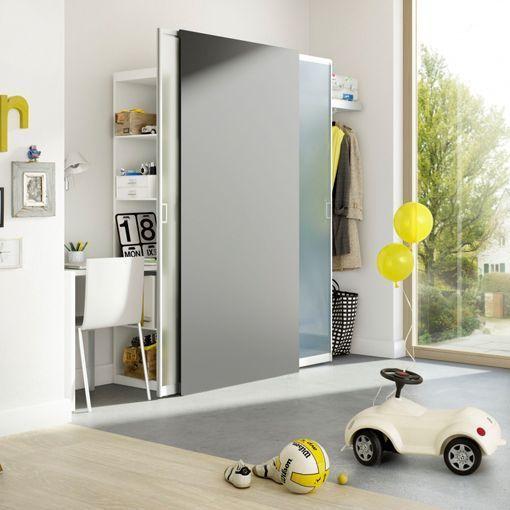 Separar ambientes con un armario con puertas correderas - Puertas correderas para separar ambientes ...