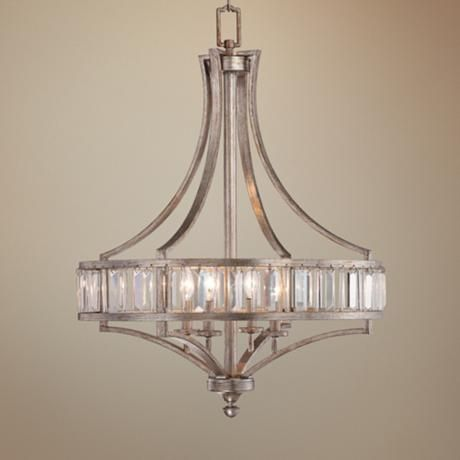The shape chandelier lamp and master bathrooms on pinterest - Bathroom chandeliers crystal ...