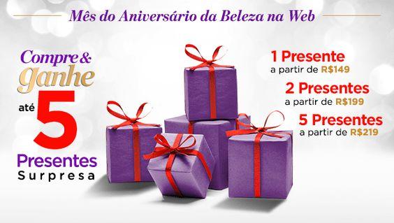 Ganhe até 5 Presentes Surpresa nas compras a partir de R$ 219 na Beleza na Web #cuponamao http://cuponamao.blogspot.com.br/2016/09/beleza-na-web-ganhe-ate-5-presentes.html