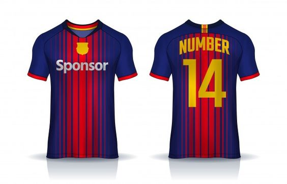 Download T Shirt Sport Design Template Soccer Jersey Mockup For Football Club Uniform Front And Back View In 2020 Sports Tshirt Designs Sports Jersey Design Sports Design