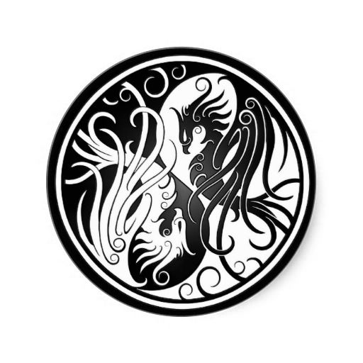 Round Celtic Wolf Tiger Tattoo Design