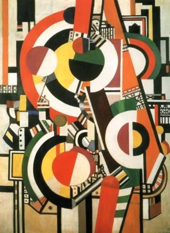 """Leger's """"The Disks"""" - Precision and imagination used to embody a time (1918)."""