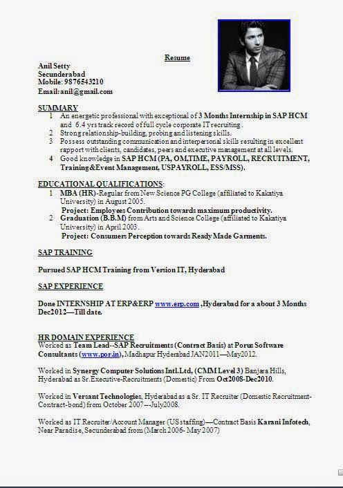 best online resume service Sample Template Example ofExcellent - sample hr resumes