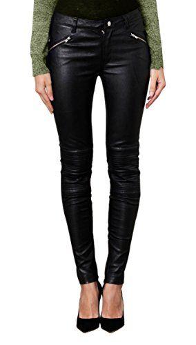 Leatherfads Womens Slimfit Soft Lambskin Leather Pants