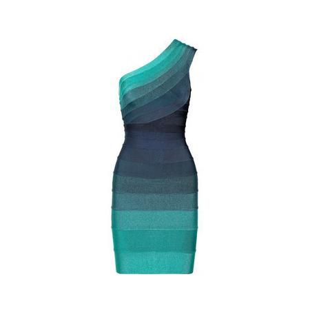 Herve Leger green bandage dress, women's fashion