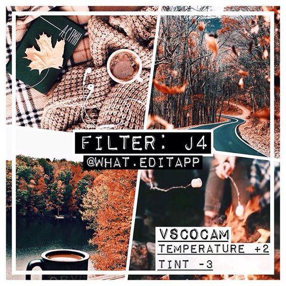 Фильтры VSCO для осени