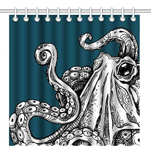 Pin On Octopus Shower Curtain