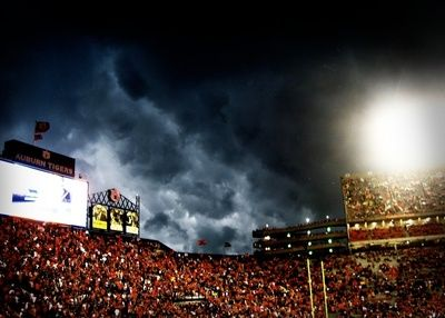 """""""The Night the Rain Came"""" AU vs WV game 2009 print...lived it. loved it. would do it again."""