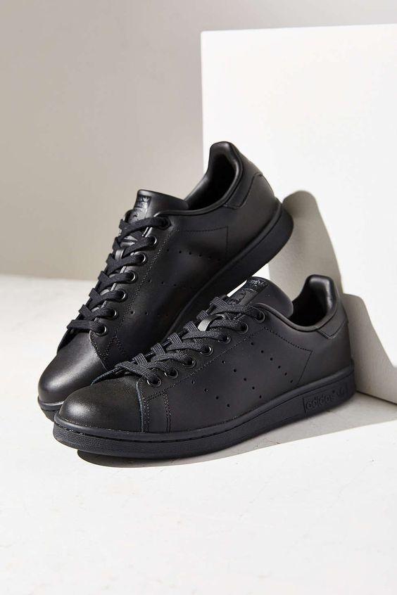 adidas Black Stan Smith Sneaker