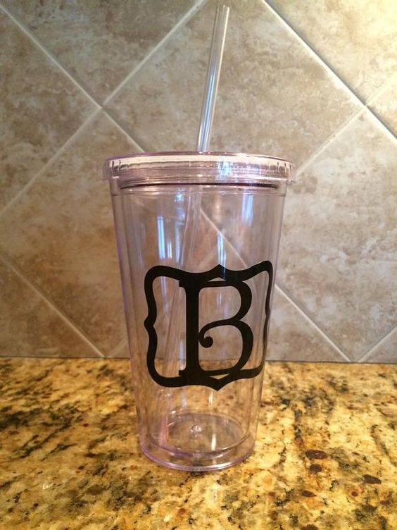 Initial Tumbler by BMGdesigns1 on Etsy