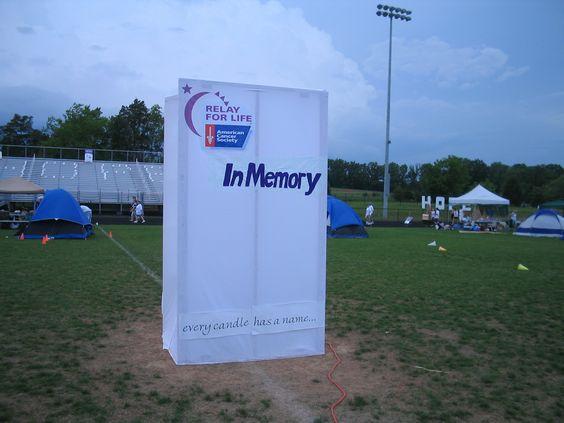 Big Luminee Bag (In Memory) at 2009 Culpeper Relay for ...