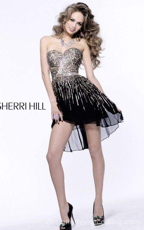 Black Sequins Homecoming Dress 2014 By Sherri Hill 8443