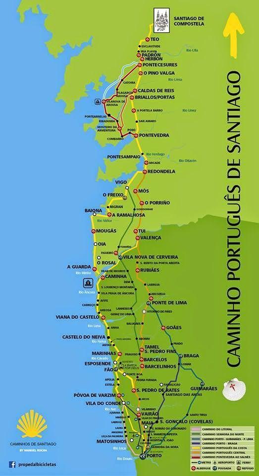 Jakobsweg Caminho Portugues Karte Und Vorbereitung Jacobsweg Jakobsweg Karte Jakobsweg