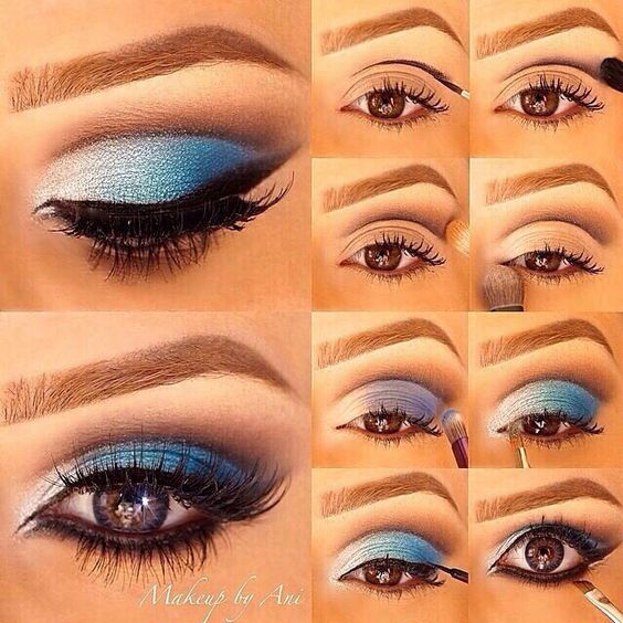 How To Apply Blue Eyeshadow Correctly - USA Fashion Trends