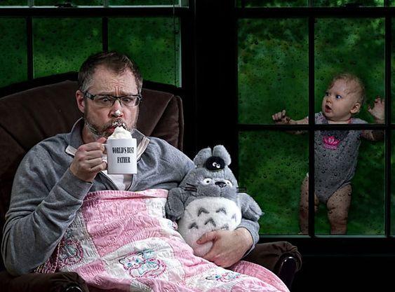 Dave Engledow, divertidas fotos en las que se expresa el amor a su hija al mismo tiempo que hace una parodia a lo que nunca quisiera ser como padre