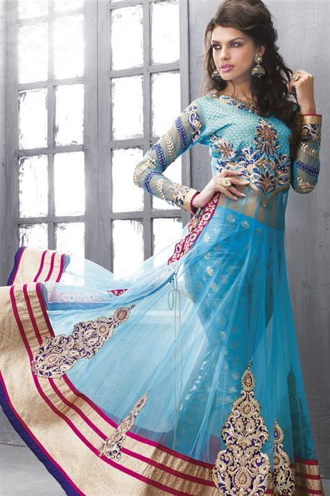 Anarkali suits anarkali and light blue on pinterest